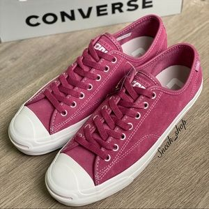 NWT Converse Faux Fux-Lined Leather Jack Purcell
